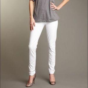 Paige Skyline Drive Leg Peg White Jeans size 32